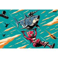 Fortnite Laser Shark Poster
