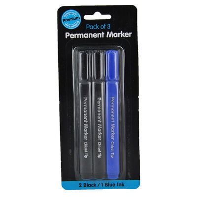 Permanent Markers: Pack of 3 image number 1