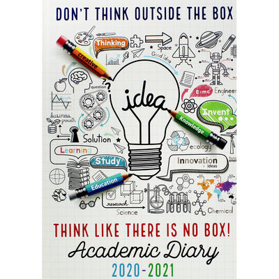 A5 Outside the Box Day a Page 2020-21 Academic Diary image number 1
