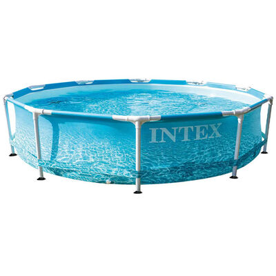 Intex Beachside Metal Frame Swimming Pool image number 1