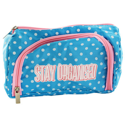 Blue Polka Dot Stay Organised Pencil Case Organiser image number 2