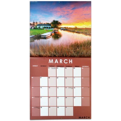 Beautiful England 2022 Square Calendar and Diary Set image number 2