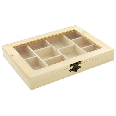 Wooden Compartment Box image number 1