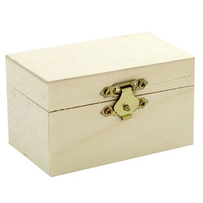 Mini Wooden Rectangle Box image number 1