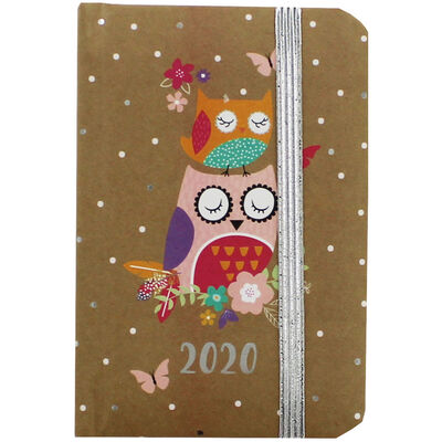 Brown Owl 2020 Week to View Pocket Diary image number 1