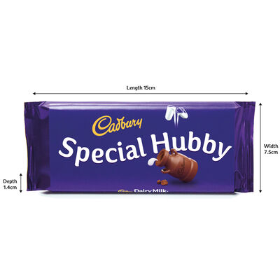 Cadbury Dairy Milk Chocolate Bar 110g - Special Hubby image number 3