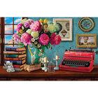 Vintage Typewriter 1000 Piece Gold-Foiled Premium Jigsaw Puzzle image number 2