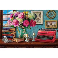 Vintage Typewriter 1000 Piece Gold-Foiled Premium Jigsaw Puzzle