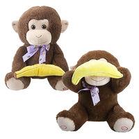 Peekaboo Monkey Dual-Function Plush: 23cm