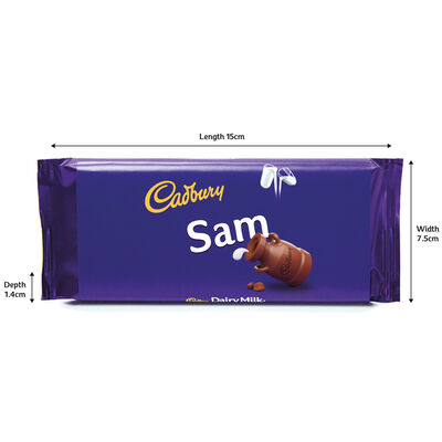 Cadbury Dairy Milk Chocolate Bar 110g - Sam image number 3