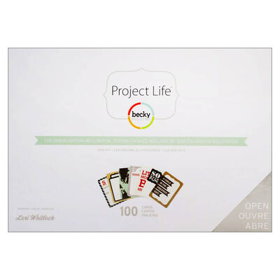 American Crafts: Project Life Childhood 100 Piece Mini Card Kit image number 1