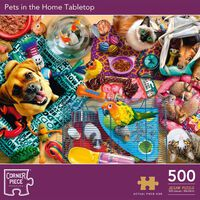Pets in the Home Tabletop 500 Piece Jigsaw Puzzle