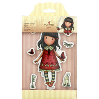 Santoro 7 Piece Rubber Stamp Set - Time to Fly