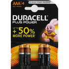 Duracell Plus Power AAA Batteries - 4 Pack image number 1