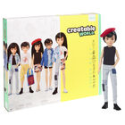 Creatable World Deluxe Character Kit Customizable Doll: Black Straight Hair image number 1