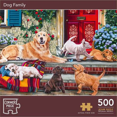 Dog Family 500 Piece Jigsaw Puzzle image number 1