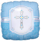 18 Inch Blue Cross Foil Helium Balloon image number 1