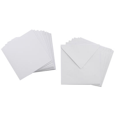 10 White Cards and Envelopes - 6 x 6 Inches image number 2