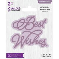 Gemini Mini Expressions Die - Best Wishes