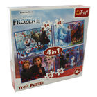 Disney Frozen 2 4-in-1 Jigsaw Puzzle Set image number 1
