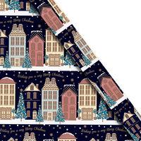 Christmas Gift Wrap 5m: Assorted Navy Merry Christmas
