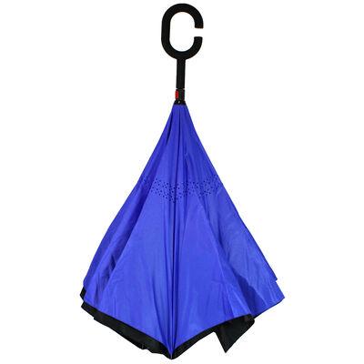 Blue Backwards Brolly Inside Out Umbrella image number 2