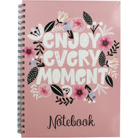 A4 Wiro Enjoy Every Moment Lined Notebook