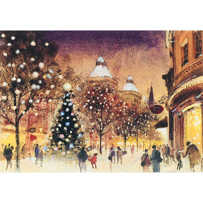 Cancer Research UK Charity Town Christmas Cards: Pack of 10 image number 2