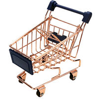 Rose Gold Mini Shopping Trolley