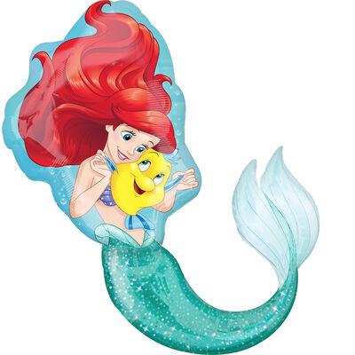 34 Inch Disney Little Mermaid Super Shape Helium Balloon image number 1