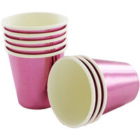 Metallic Pink Mini Paper Shot Glasses - 8 Pack