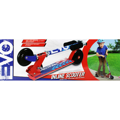 Red and Blue Kids Inline Scooter image number 2