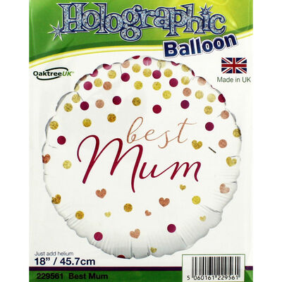 18 Inch Best Mum Foil Helium Balloon image number 2
