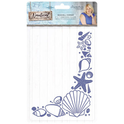 Crafters Companion Nautical Collection 3d Embossing Folder - Seashell Corner image number 1