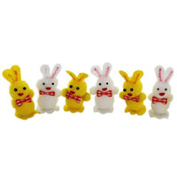 Easter Bunny Embellishments: Pack of 6