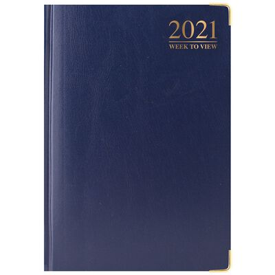 A5 Padded Week To View 2021 Diary Assorted image number 3