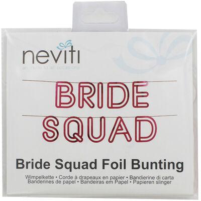 Pink Bride Squad Foil Bunting image number 1