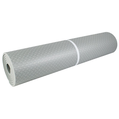 Grey Yoga Exercise Mat - 7mm Thickness image number 2