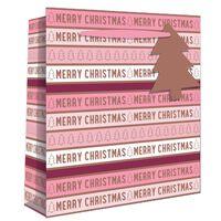 Pink Merry Christmas Perfume Gift Bag