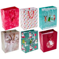 Assorted Medium Christmas Gift Bags: Pack of 6