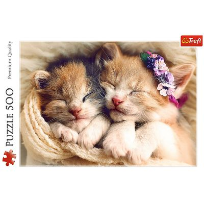 Sleeping Kittens 500 Piece Jigsaw Puzzle image number 2