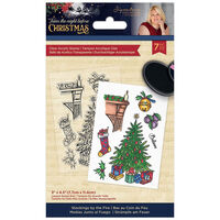 Sara Signature Acrylic Stamp: Twas the Night Before Christmas: Stockings by the Fire