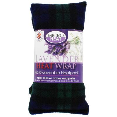 Black with Green Tartan Lavender Microwaveable Heat Wrap image number 1