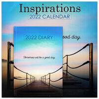 Inspirations 2022 Square Calendar and Diary Set