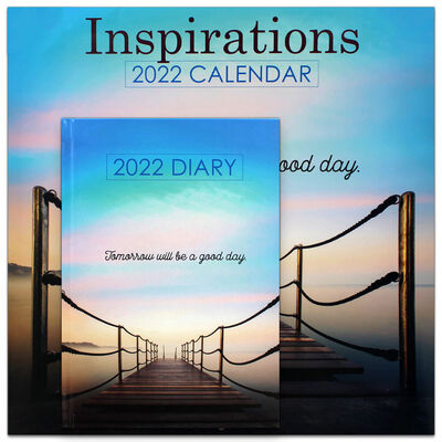 Inspirations 2022 Square Calendar and Diary Set image number 1