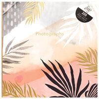 Tropical Sunset Palm Leaves Slip-In Photo Album