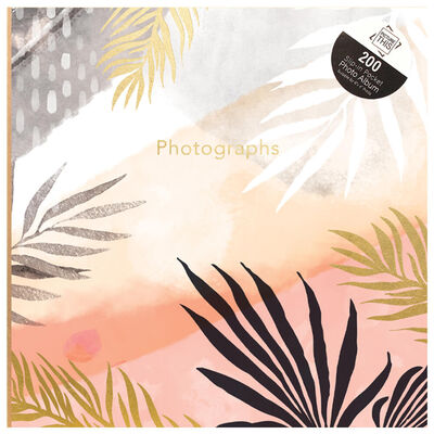 Tropical Sunset Palm Leaves Slip-In Photo Album image number 1