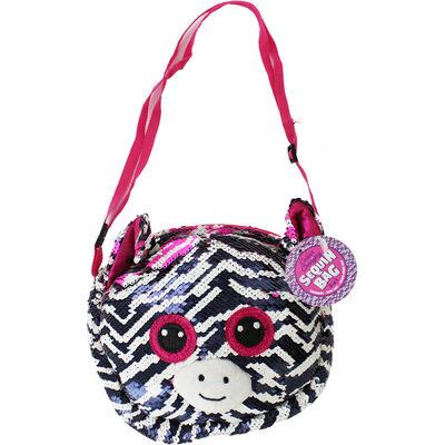 Black White Pink Zebra Sequin 3 In 1 Bag image number 1
