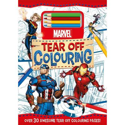 Disney Marvel Tear Off Colouring Pad image number 1