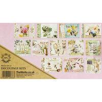 Vintage Floral Decoupage Booklet - 12 Sheets